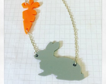 Bunny and Carrot Necklace