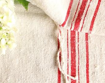 B 356 antique classy grainsack TOMATOE RED holiday feeling pillow cushion 52.76long thanksgiving