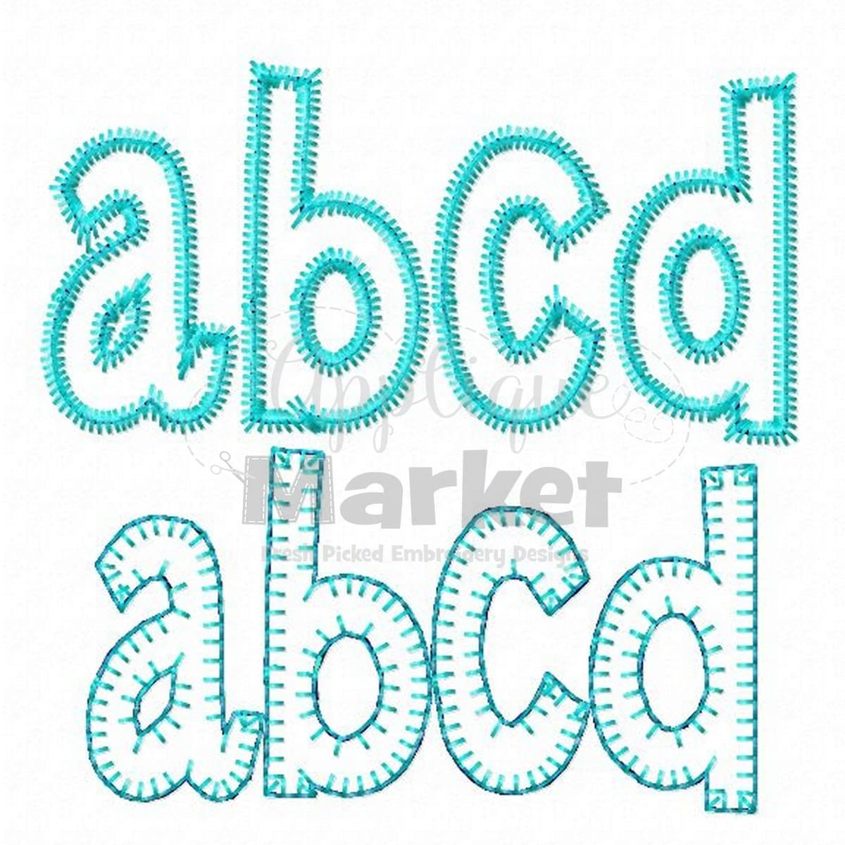 Machine embroidery henry applique alphabet font instant