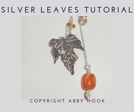 Silver Leaves tutorial - PDF file instant download
