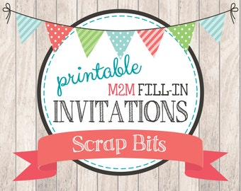 Made to Match Printable Invitation . Blank Fill-In Invitations