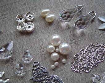 Jewelry supplies, craft supplies, jewelry supply lot