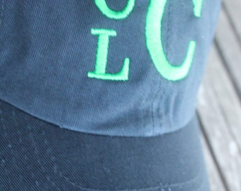 Customized Stacked Monogram Personalized Embroidered Infant/Toddler/Youth/Children/Kids Baseball Sports Sun Cap Hat Visor Choose Your Color