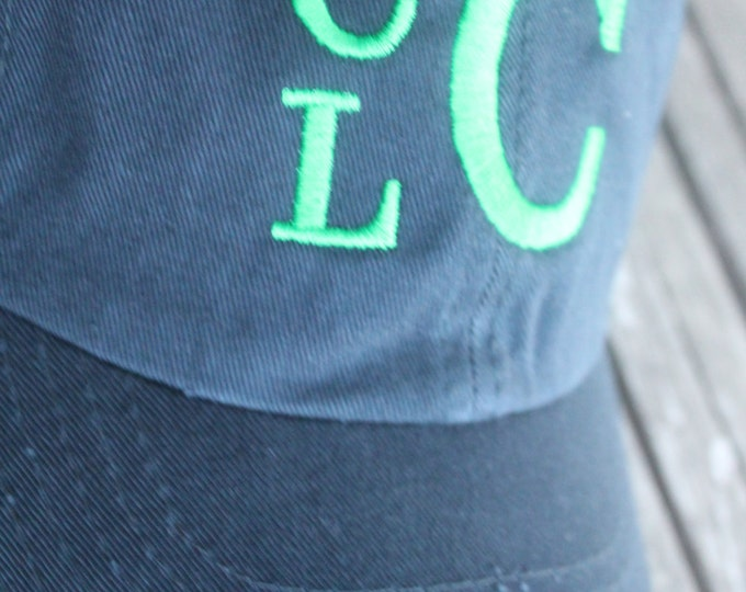 Toddler Customized Stacked Monogram Personalized Embroidered Infant/Toddler/Youth/Children/Kids Baseball Sports Sun Cap Hat Visor Your Color