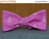 Anchors on Fuschia  Bow tie