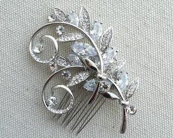 Bridal Hair Comb, Wedding Headpiece, Cubic Zircon Hair Comb