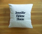 16x16 embroidered coor pillow plus insert