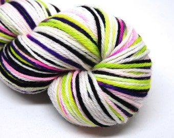 "Indie Rock Worsted Yarn - ""Creepy"" - Handpainted Superwash Merino - 218 yards"