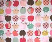 Sevenberry Japanese Cotton Apples & Kitties Fabric sold in 1/2 yard increments