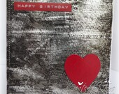 Man/boys/guys retro handmade birthday card with amazing faux metal riveted background RESERVED FOR SHARRON
