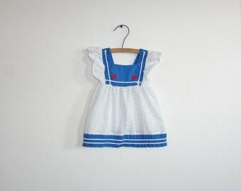 Vintage Nautical Baby Sun Dress