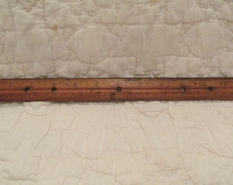 Vintage Wood Ruler 12 Inch MM on the other side