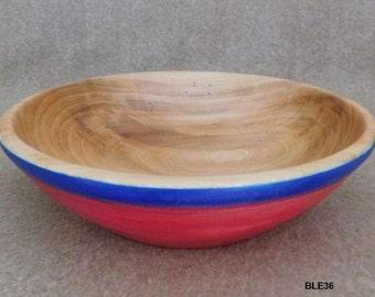 """10 3/4"""" Dyed Elm Bowl"""