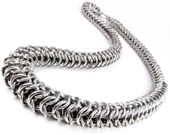 Chainmaille Necklace - Super Tube Pattern
