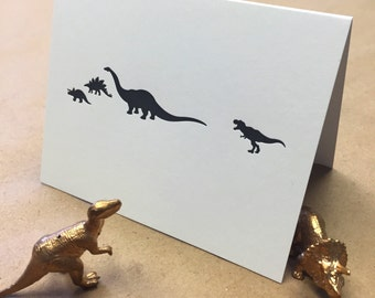 Dino Party - Letterpress A2 Blank Card