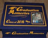 2016 GRADUATION  Memory Box - More School Colors Available!