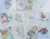 Wedding Bells and Bouquets Featured in 1940s Wedding Card Lot No 27 Embellished  Lot of 12 Flowers Galore