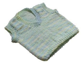 Vest Pastel Multi Hand Knit