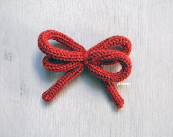 Wool brooch - Bow brooch pin - Knot brooch pin -  Made in Italy - 16 colors