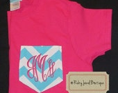 Monogrammed Pocket T-Shirt- Long or Short Sleeves - Adult & Youth - Custom made for you!