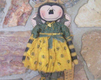 "PriMiTiVe Summer Garden Bumble Bee Art Doll ""BIZZY BEE"" ofg faap hafair"