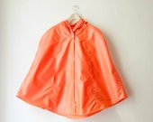 Orange Rain Coat,  Vintage Inspired Cape with Hood, Waterproof, Gift For Her, Available in Violet, Green, Yellow, Sky Blue