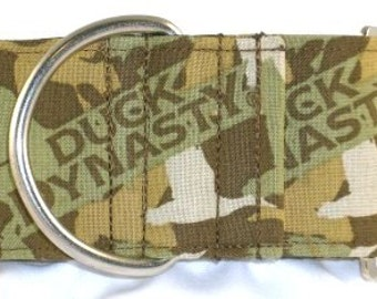 2 inch camo greyhound martingale dog collar, duck dog, camouflage, duck commander, waterfowl, bird hunting, tan--Duck Dynasty-Brown