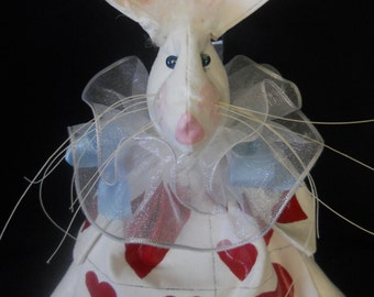 Handpainted White Rabbit, White Rabbit Doll