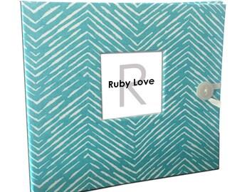 BABY BOOK | Ocean Freeform Arrows Baby Book | Baby Memory Book