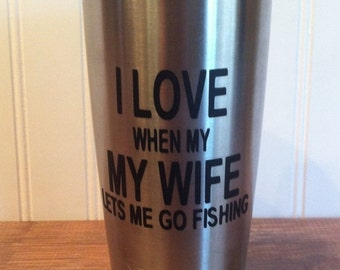Get Organized SALE- I Love My Wife Yeti Vinyl Decal, DIY Vinyl Decal, Diy Fathers Day Gifts, Personalized Vinyl Decal
