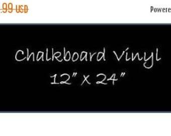 Get Organized SALE- Chalkboard Vinyl 12 x 24 Sheet - DIY Chalkboard Labels, Blackboard Vinyl, Self Adhesive Chalkboard, Peel and Stick Chalk