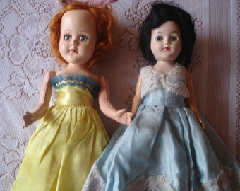 Vintage Dolls 1940s / Handmade Clothes/ 12 inch dolls  / Beautiful!!