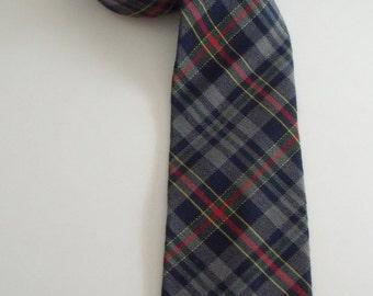 Vintage GAP Cotton / Wool Plaid Necktie Tie 59 in. long x 3.5 in. wide