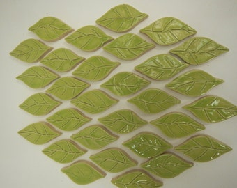 Mosaic Leaf Tiles-Garden mosaic Tiles-.75 Each