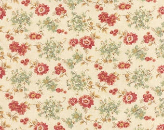 SALE Larkspur by 3 sisters for Moda  Sweetbriar Rose in Feather 1 yard   YES!! Continuous fabric cuts and combined shipping