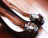 2 New Mossy Oak Break Up Camo Bling Flower Shoe Clips
