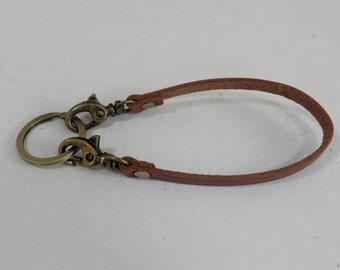 Tan Leather Key Lanyard Leather Keyring Key Holder Leather Keychain