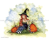 HALLOWEEN witch 8.5x11 PRINT by Amy Brown