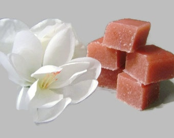 Handmade Solid Sugar Body Scrub Cubes-Exfoliate and Refresh-choose your scent