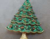 Christmas Tree Brooch - Vintage