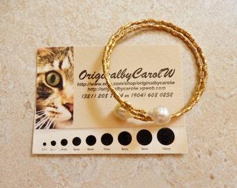 White South Sea Pearl Wrap Bracelet