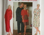 Unisex Sleepwear - Simplicity 9858 - Vintage Sewing Pattern, Sizes X-Small, Small and Medium
