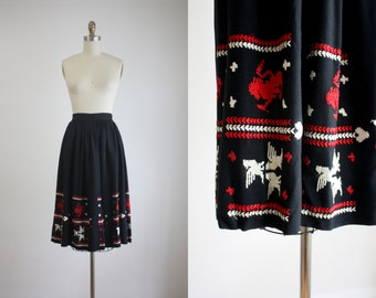 1940s griffin skirt
