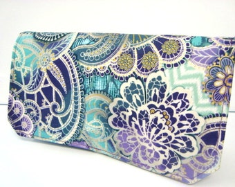 Coupon Organizer Cash Budget Organizer Holder- Attaches to your Shopping Cart  Medallion Peacock