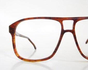POP SALE Vintage 1970s Tortoiseshell Aviator Glasses Mens Eyeglasses 70s Sunglasses Warm Amber Brown Indie Hipster Seventies Deadstock Homme