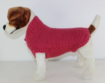 Chunky Garter Stitch Dog Coat knitting pattern by madmonkeyknits - instant digital pdf download knitting pattern