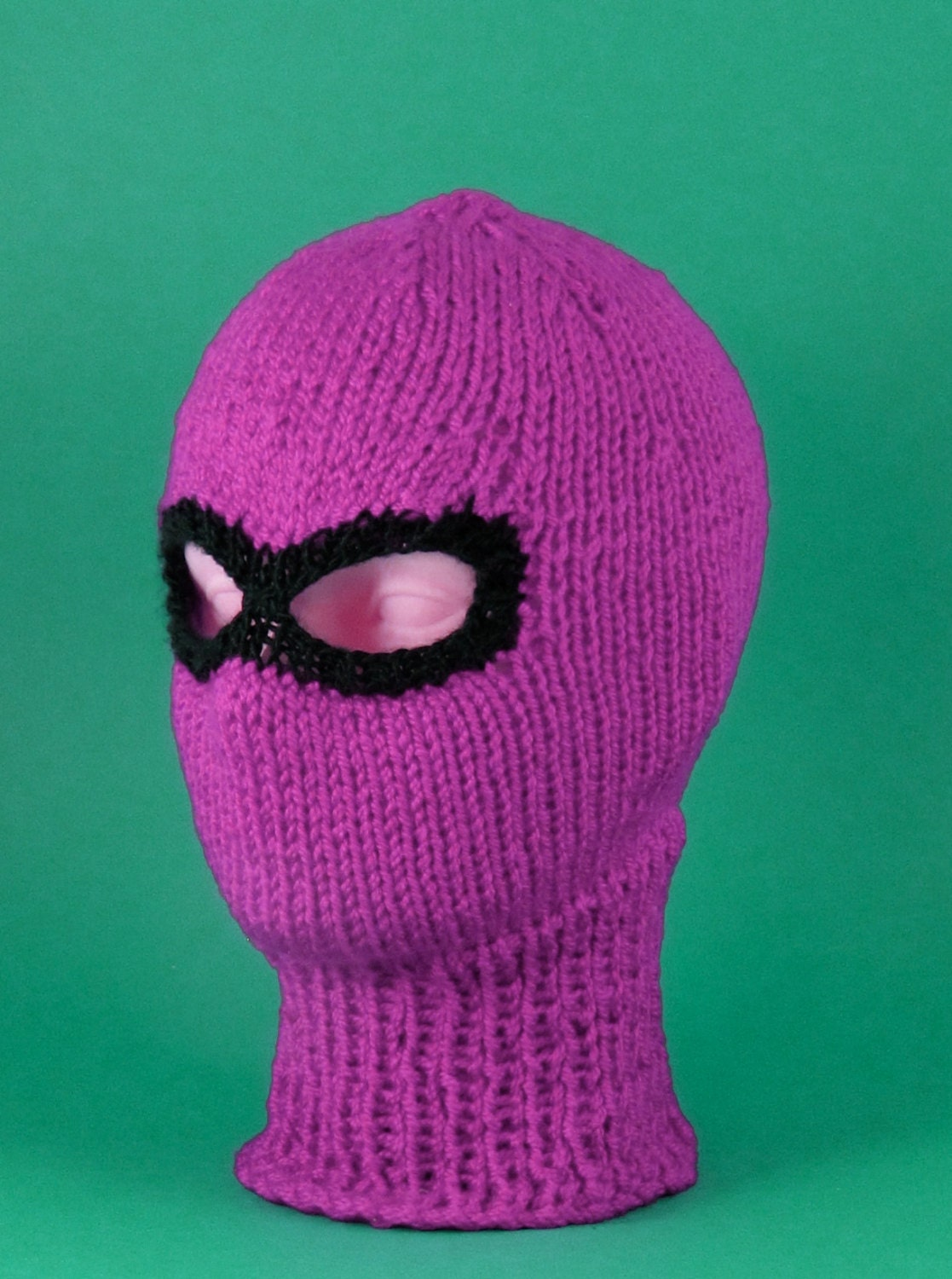 Chunky Balaclava Knitting Pattern : 40% OFF SALE Chunky Ski Mask Balaclava CIRCULAR knitting pattern by madmonkey...