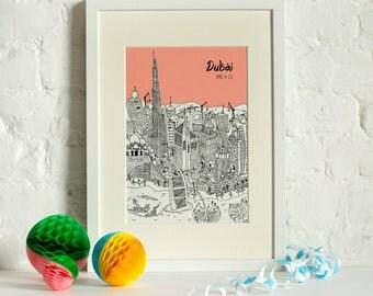 Personalised Dubai Print