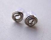 hypoallergenic titanium knots stud post earrings big knots for sensitive ears handmade by Variya