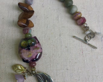 Glass Woodland Owl Bracelet